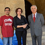 With the artist Hassan Jouni and Mrs. Zeina Fouad Jawhar