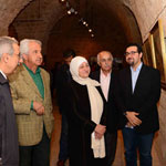 With the MP Mrs Bahia Hariri and the artists Fouad Zibawi,Hassan Jouni and Michel Rouhana.