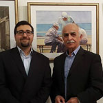 With the Watercolorist Mr. Fouad Zibawi.