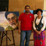With the artist Mrs. Safaa Badih during the event.