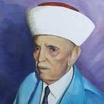 My participation in the event, a portrait of Mufti Jalal Eddine.