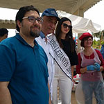With Dr. Saed Mikkawi and Miss Lebanon and the artists.