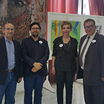 with the artists Dr. Dima Raad, Atef Tohme and Mr. Mohamad Baba (Saida Municipulity).