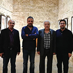 The artists Michel Rouhana, Atef Tohme, Anthony Khalil and Zaher El Bizri